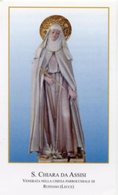 Ruffano (Lecce) - Santino SANTA CHIARA DA ASSISI - PERFETTO P87 - Religione & Esoterismo
