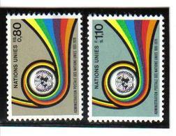 GEF34 UNO GENF 1976 Michl 60/61 ** Postfrisch SIEHE ABBILDUNG - Genf - Büro Der Vereinten Nationen