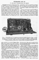 TELEGRAPHIE SANS FIL ( Un Relai Pour L'enregistrement Des Signaux )    1914 - Technical