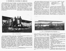 LA TRAVERSéE  DE L'ATLANTIQUE En AEROPLANE  1914 - Transport