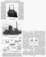 UN NAVIRE DIRIGé Par Les ONDES HERTZIENNES    1914 - Transport