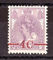 Pays-Bas - 1921 - N° 98 - Neuf * - Timbre Surchargé - Wilhelmine - Period 1891-1948 (Wilhelmina)