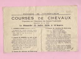 Vittefleur  Courses De Cheveaux - Old Paper