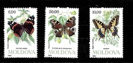 3 Series De Moldavia Nº Yvert 67/70 ** MARIPOSAS (BUTTERFIES) - Moldavia