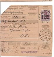 Postwissel Met Nr 6 En Verso 14 Van 19.6.18 Van Antwerpen 10 Naar Mol - Guerre 14-18