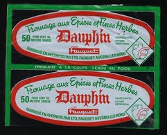 étiquette Fromage Aux épices Et Fines Herbes Dauphin  Fauquet  Avesnelles Nord 59 - Kaas