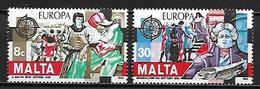 MALTE    -   1982 .   Y&T N° 649 / 650 **.   EUROPA.  .   Série Complète. - Malte