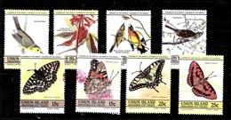 Sellos De Isla Unión Del AÑO 1985 ** MARIPOSAS (BUTTERFLIES) - St.Vincent Y Las Granadinas