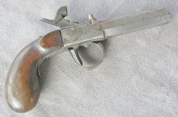 Ancien Petit Pistolet De Poche 19éme - Armes Neutralisées