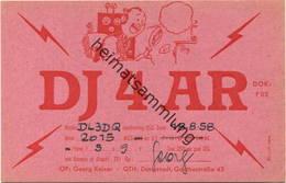 QSL - Funkkarte - DJ4AR - Darmstadt - 1958 - Amateurfunk