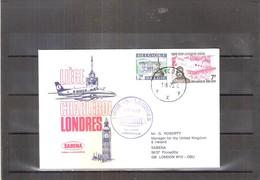 1er Vol SABENA - Liège-Charleroi-Londres (à Voir) - Poste Aérienne