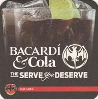 Coca Cola  Bacardi     Viltje  - Coaster  - Recto Verso - Sous-bocks