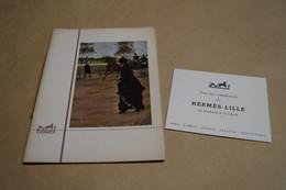 Original Ancien Catalogue Hermès 1958,couverture Le Quais,Jean Béraud ,complet Superbe état De Collection - Advertising