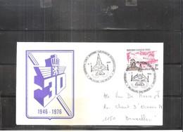 Lettre - Exposition Force Aérienne - 1946-1976 (à Voir) - Poste Aérienne