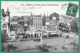 ! - France - Paris - Le Moulin Rouge Et La Place Blanche - Places, Squares