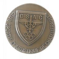 Médaille D'honneur ,1991 , Club Sportif Et Artistique De CHATEL , VIENNE, 79 Gr., Bronze , Diam. 50 Mm , Frais Fr 2.95 E - Professionnels / De Société