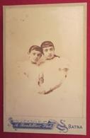 Photo Ancienne XIXe Vers 1890 Algérie BATNA 2 Fillettes Soeurs - Photographe A. Boutellier à Batna - Anciennes (Av. 1900)