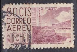 Messico, 1950/52 - 80c Mexico City University Stadium - Nr.C195 Usato° - Mexique