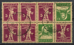 Suisse 1924 Oblitéré 80% Z 13 - Tête-Bêche