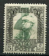 Libye 1924 Sass. 46 Neuf ** 100% 5C, Pictorial - Libye