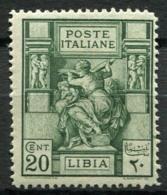 Libye 1924 Sass. 40 Neuf * 100% 20 C, Sibyl Libyenne - Libye