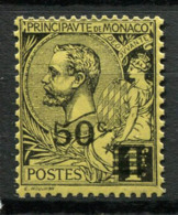 Monaco 1922 Mi. 53 Neuf ** 100% Surimprimé 50 C - Non Classés