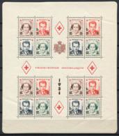 Monaco 1949 Mi. Bl. 4 A Bloc Feuillet 60% * Croix Rouge Surimprimé - Blocs