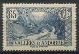 Andorre Français 1937 Mi. 64 Neuf * 100% 65C, Paysages - Andorre Français