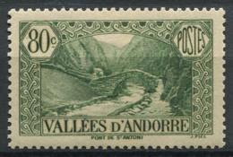 Andorre Français 1937 Mi. 67 Neuf * 100% 80C, Paysages - Andorre Français