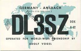 QSL - Funkkarte - DL3SZ - Werbung - 91522 Ansbach-Eyb - 1959 - Amateurfunk