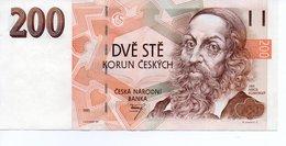 Billet Republique Tcheque 200 Korum Type Komensky 1993 - Tchécoslovaquie