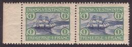 DWI St. Thomas Harbor Scott 37/Facit 38 MNH Pair + UNLISTED VARIETY - Denmark (West Indies)