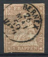Suisse 1854 Mi. 13 Oblitéré 20% Helvetia Assis - 1854-1862 Helvetia (Non-dentelés)