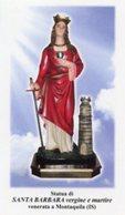Montaquila (Isernia) - Santino SANTA BARBARA Vergine E Martire - PERFETTO P87 - Religione & Esoterismo