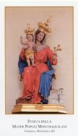 Montaquila (Isernia) - Santino MATER POPULI MONTISAQUILANI - PERFETTO P87 - Religione & Esoterismo
