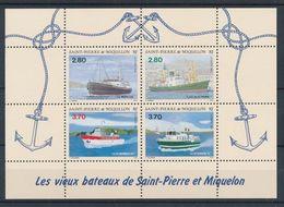 St. Pierre Et Miquelon 1994 - Ships - Boats Sheet Mint - Nuevos