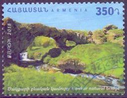 Used Armenia 2018,.Europa 2018 : Tsakkar Natural Bridge 1V. - Arménie