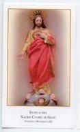 Montaquila (Isernia) - Santino SACRO CUORE DI GESÙ - PERFETTO P87 - Religione & Esoterismo
