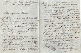 VP13.670 - GURAN Par CIERP 1907 - Noblesse - LAS - Lettre De Mr Philippe De BOURBON - BRAGANCE - Autographes