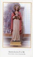 Colli A Volturno (Isernia) - Santino SANTA LUCIA Vergine E Martire - PERFETTO P87 - Religione & Esoterismo