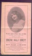 387 - PUBLICITE ILLUSIONNISTE BEN ALI BEY - Old Paper