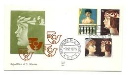 1975 - San Marino 947/49 Quadro F. Gentilini - FDC - Künste