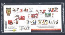 France Bloc Souvenir N° 59 à 64 BICENTENAIRE DE LA BRIGADE DES SAPEURS POMPIERS DE PARIS Ensemble 6 Blocs NSB ** - Souvenir Blokken