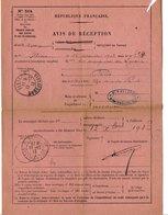 OBLITERATION SUR AVIS DE ILLIERS EURE ET LOIR 1913 - 1877-1920: Periodo Semi Moderno