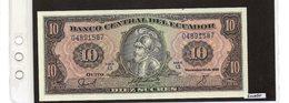 Banconota Ecuador 10 Sucres - Equateur