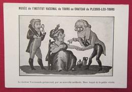 Petite Carte Calendrier 1908 Musée De L'Institut Vaccinal De Tours Au Château De Plessis-les-Tours - Mme Angot Vérole - Calendriers