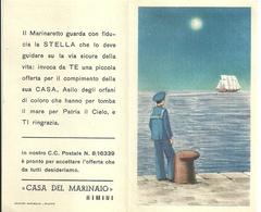 """2037 """" CALENDARIO 1954-CASA DEL MARINAIO - RIMINI """"  ORIGINALE - Formato Piccolo : 1941-60"""
