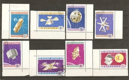 Mongolie 1966 - Conquêtes Spatiale - Série Complète ° CDF Sc439/46 - Vostok - Telstar - Mariner - Luna - Proton - Syncom - Mongolie