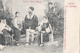 Salutari Din Romania Portul In Rucar (muscel) 1903 (LOT AE 24) - Roumanie