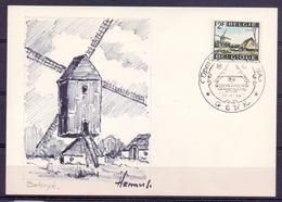Windmolens - Belgie - Bokrijk - Openluchtmuseum - 22-6-68 - Zie Scan - Genk